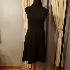 New LOFT Black Silk Dress